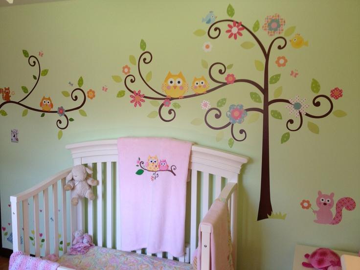 Owl room  Peyton's Owl Room Dena Happi Owl theme  Paint color: Apple Slice (Valspar)