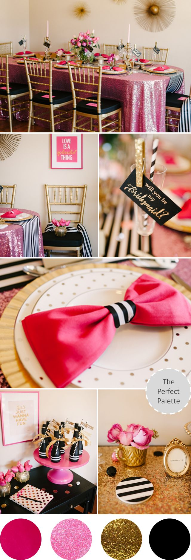 Styled shoot for Kate Spade by The Perfect Palette. photos by Lauren Rae Photography http://www.theperfectpalette.com/2014/01/a-chic-and-swanky-kate-spade-inspired.html