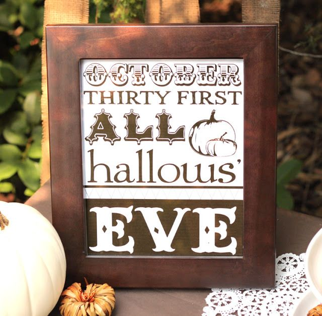 FREE PRINTABLE! Halloween & Thanksgiving Party! Harvest, Fall Party! Downloads! - Kara's Party Ideas - The Place for All Things Party