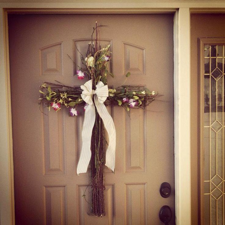 Video Diy Twiggy Front Door Cross For Easter From My