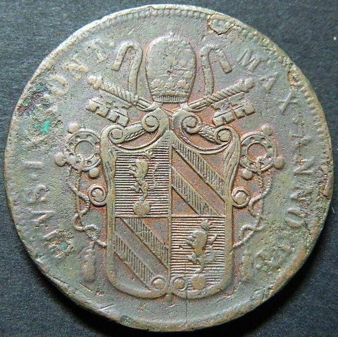 1852 vaticano 5 baiocchi