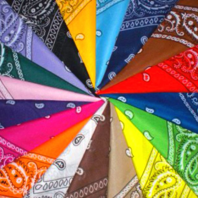 Bandanas!!  I've got a ton. Don't have an idea for them yet... decorations?