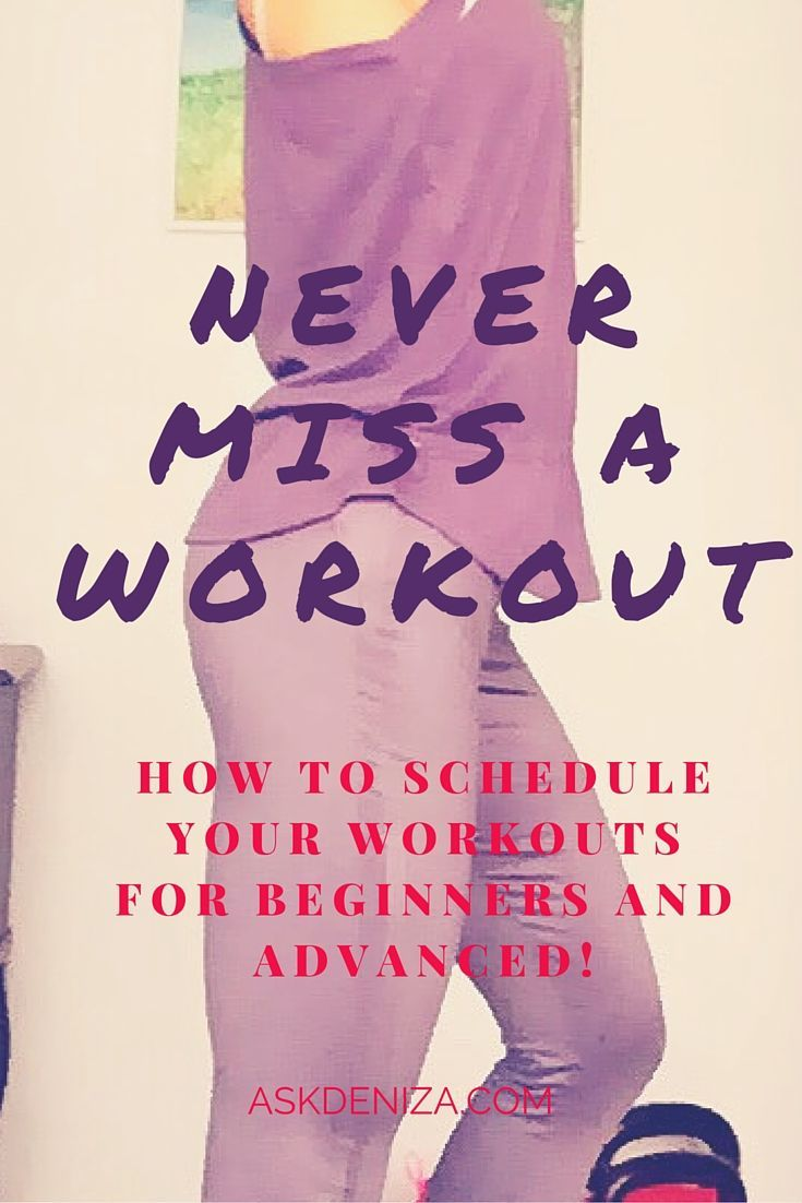 DIY - How to schedule your Workouts
