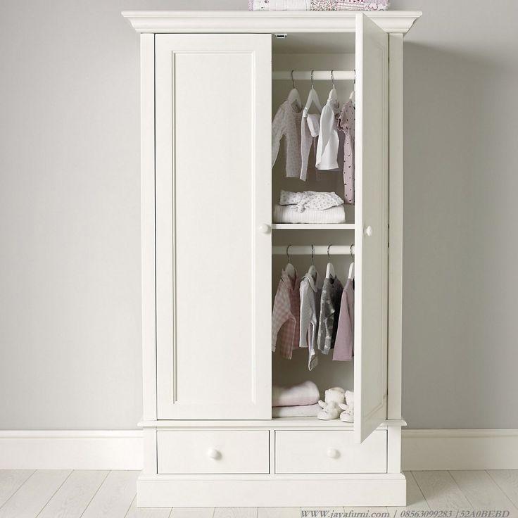 Lemari Pakaian Anak Putih 2 Pintu dan 2 laci khusus untuk anda, Lemari…