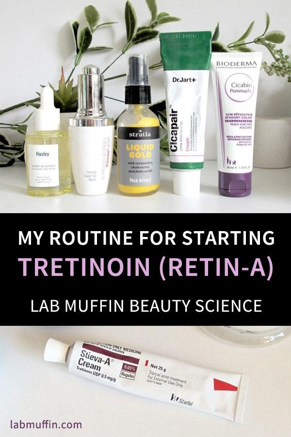 My Routine For Starting On Tretinoin Retin A Cream With Video Lab Muffin Beauty Science Tretinoin Skin Care Routine Beauty Science