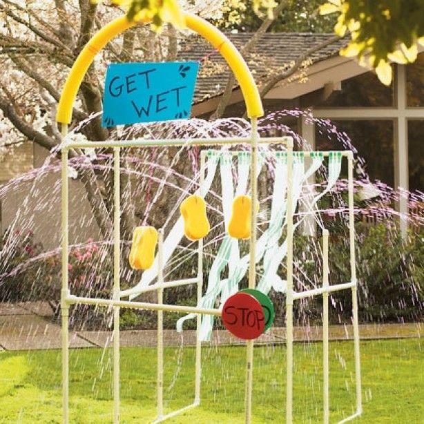 kinderwasstraat voor zomer fun