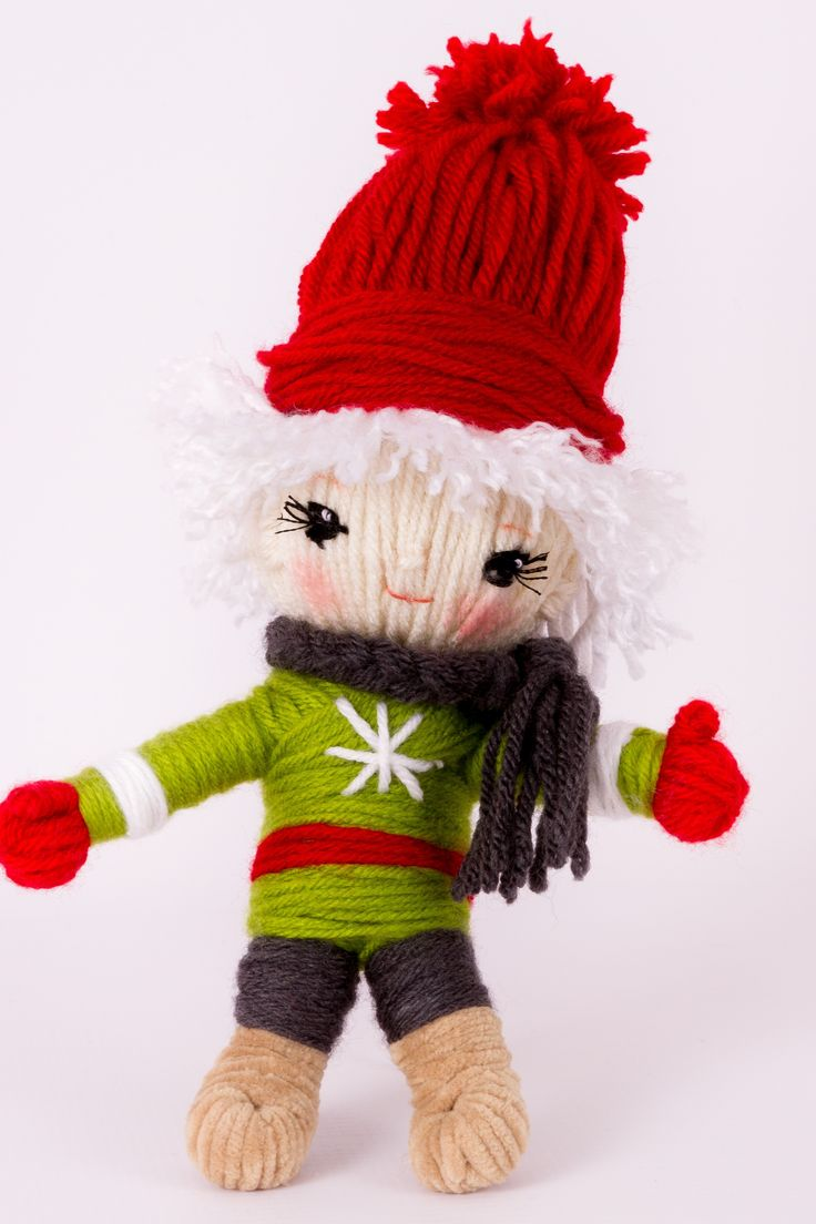 "Adorable yarn craft doll Nisse the Elf  from ""Yarn Whirled: Fairy Tales, Fables, and Folklore""."