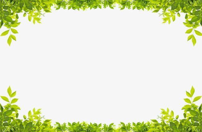 Green Leaves Border Png Border Clipart Down Frame Green Green Clipart Leaf Border Powerpoint Background Free Clip Art Borders