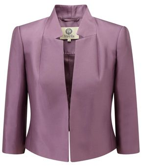 Amethyst Silk Cropped Jacket