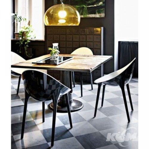 Super impossible krzeslo/fotel 55x54x84cm bialo-czarny