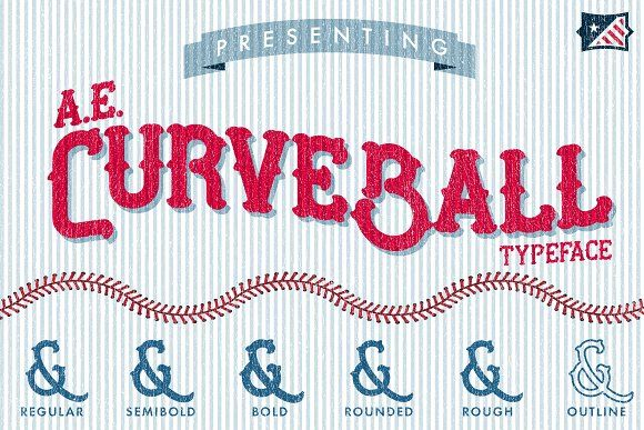Ae Curveball Vintage Typeface Typeface Business Card Logo Pretty Fonts
