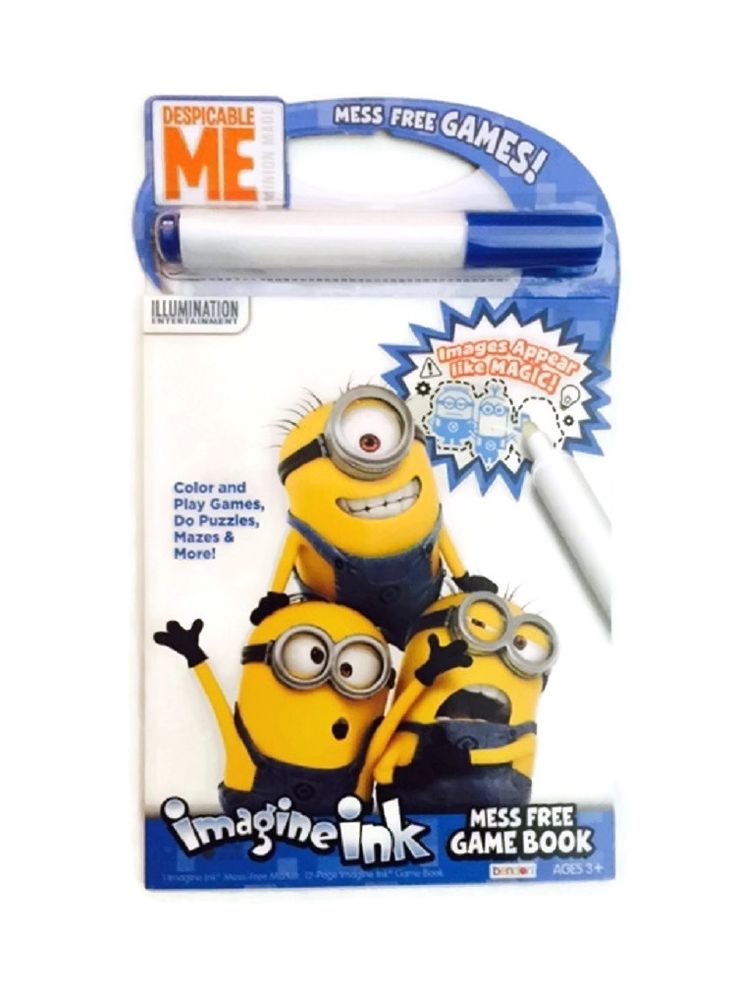 Despicable Me Minions Imagine Ink Mess Free Games Puzzles Mazes