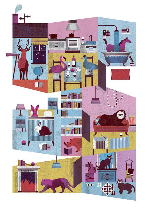 v: Let's Get Retro Happy: Illustrations by Lotta Nieminen