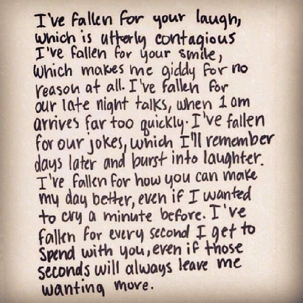 Romantic Love Quotes For My Boyfriend: Just A Few Of The Numerous Reasons I Have Fallen For You