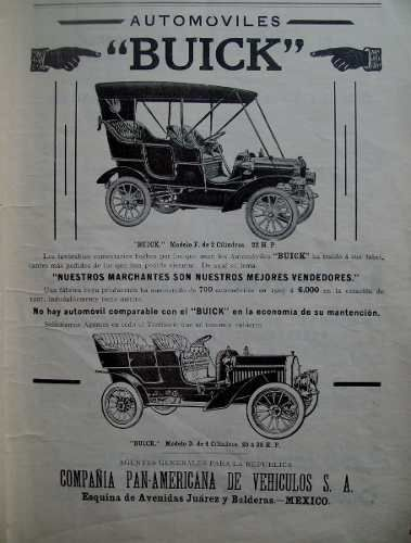 Antiguo Anuncio De Buick Principios Del Siglo Xx