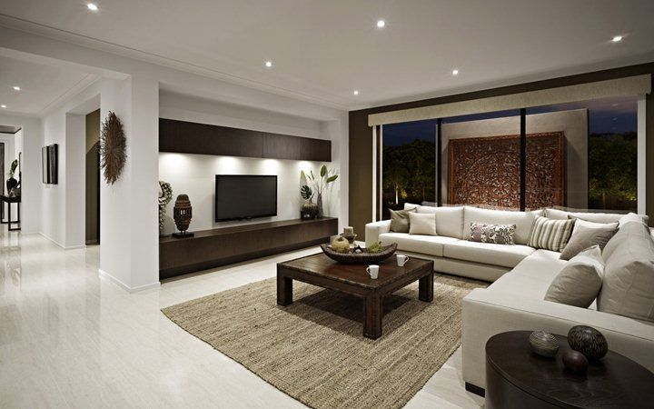 Family room new home designs metricon arquitectura e for Den living room designs