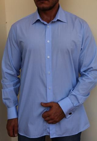 DKNY Shirt, Light Blue, Cuffs