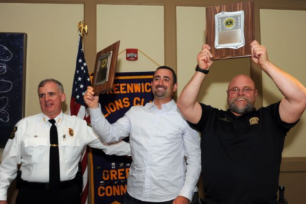 Hero cops honored with Clarke Award on behalf of the #LionsClub of Greenwich