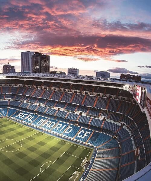 This is Real Madrid's stadium, the Santiago Bernabeu. There will be some normal stadiums as well as extreme conditions.
