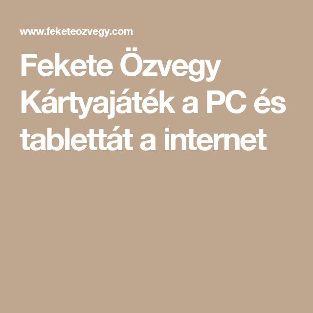 Fekete Özvegy Kártyajáték a PC és tablettát a internet