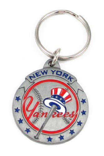 Pewter MLB Team Logo Key Ring - New York Yankees - NY Yankees  http://allstarsportsfan.com/product/pewter-mlb-team-logo-key-ring-new-york-yankees-ny-yankees/  Officially licensed by MLB Logo measures approx. 1.25 to 1.5 inches