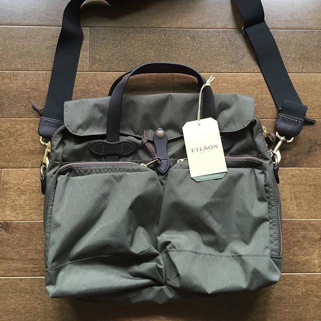 Let's get to work! Filson 72 Hour Briefcase in Otter Green. Retail $325, $250 shipped (lower 48). Brand new with tags. #filson #filsonbriefcase #briefcase