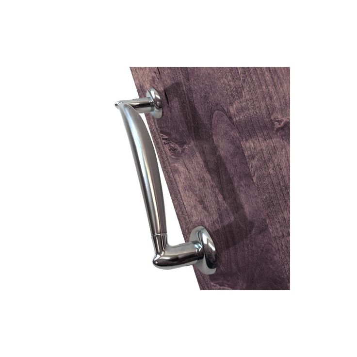 M-190B SN/CP Sassari Mediterranean Pull Handle - Satin Nickel - Polished Chrome. #pullhandle #doorhandle #modernpullhandle