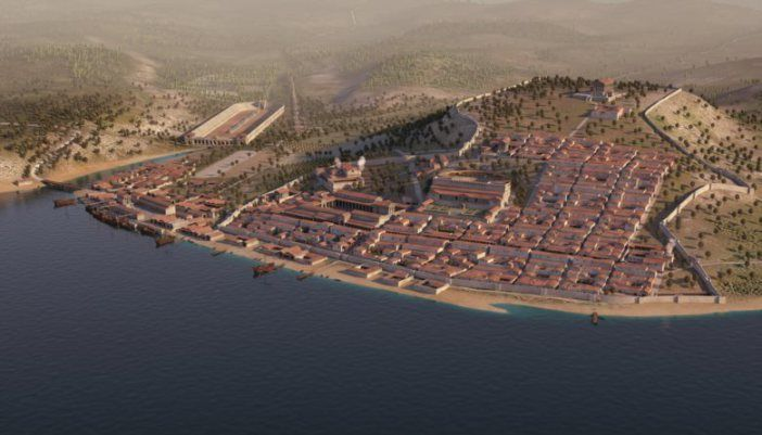Virtual reconstruction of Olisipo (ancient Lisbon) #archaeology #archeologia
