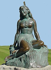 Pania - Wikipedia, the free encyclopedia Pania of the Reef: Maori legend. Napier, NZ.