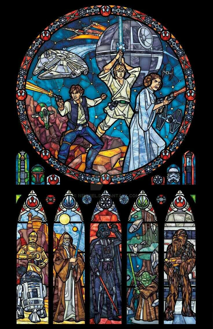 Star Wars glass art!