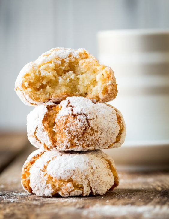 Chewy Italian Amaretti cookies - a delightful gluten-free treat made with Amaretto and egg whites.