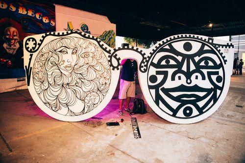 Exposicao grafites em Sao Paulo Chilli Beans
