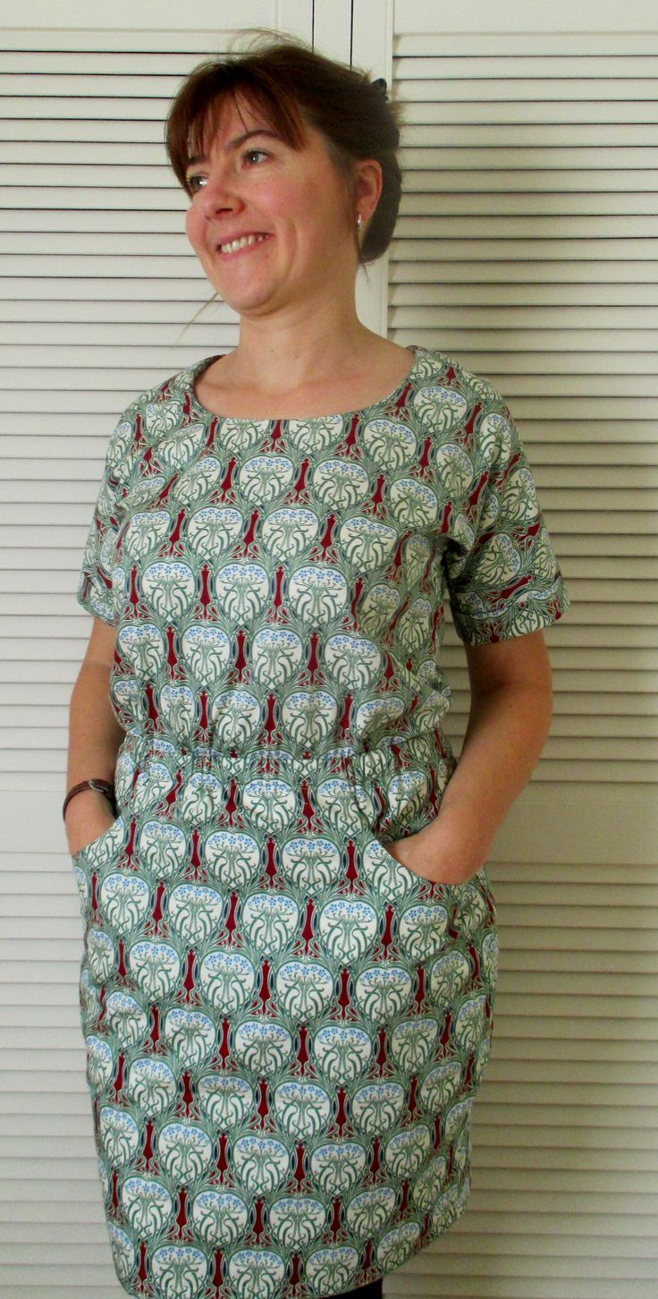 My Bettine Dress. Great for a large, strong repeating pattern. http://joeveryday19@blogspot.co.uk