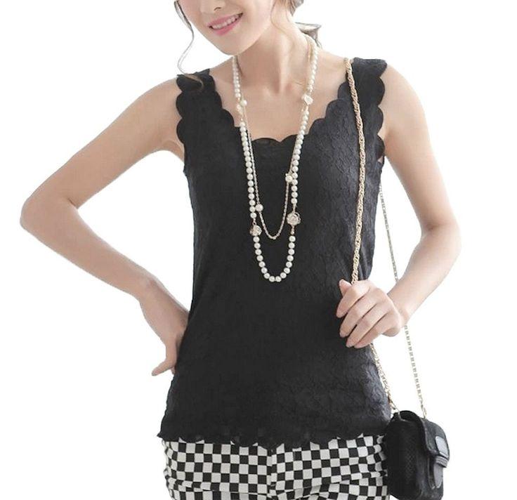 Amazon.co.jp: タンクトップ レース おしゃれ 黒 ピンク ベージュ レディース 94 (フリー, 黒): 服&ファッション小物通販