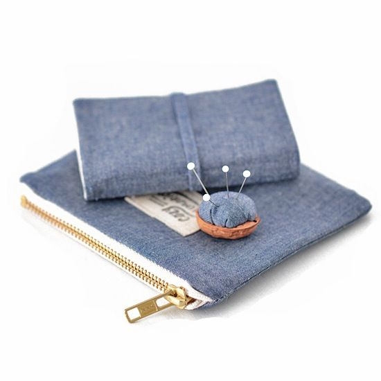 SIMPLICITY mini crafter's kit - by Cozy Memories (organic cotton chambray)