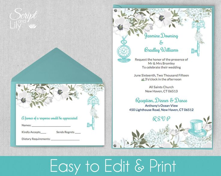 11 best Wedding Invite Template images on Pinterest A house - pages invitation templates free