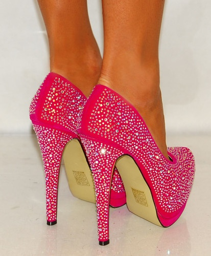 PINK FAUX SUEDE COURT PLATFORM PARTY SHOES