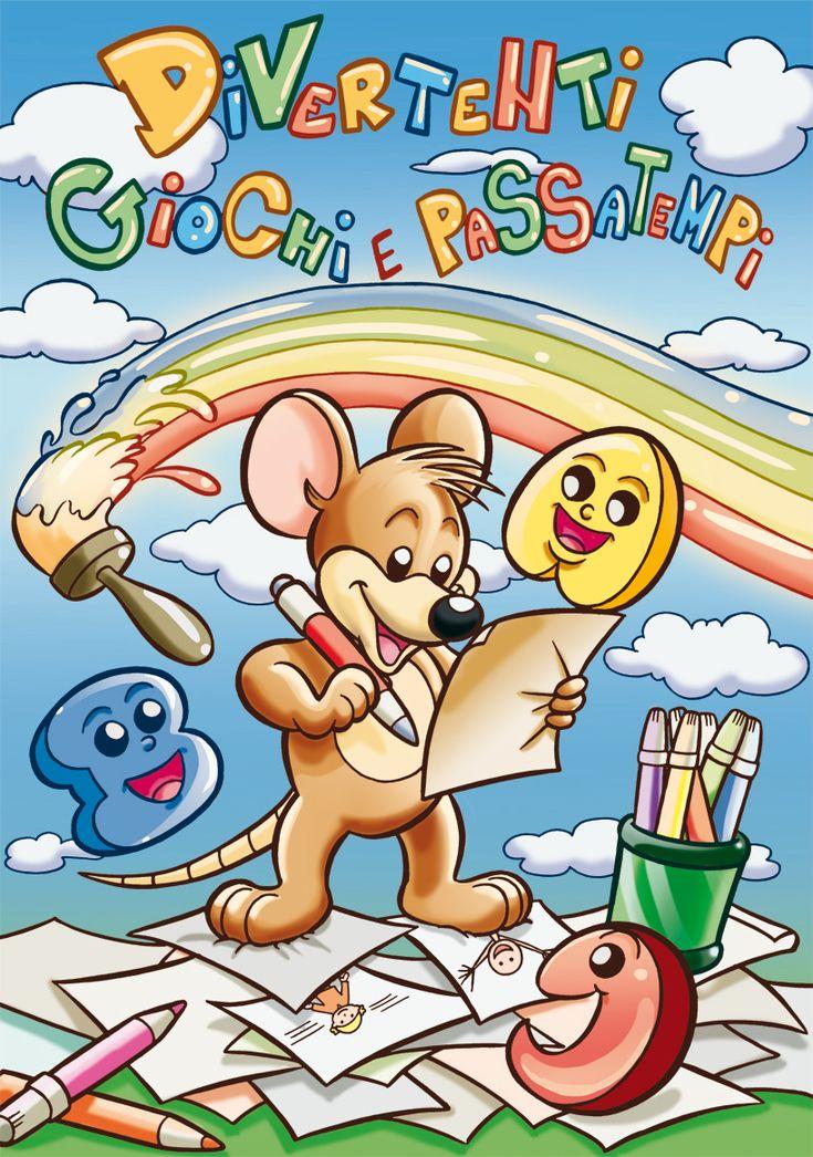 Fantastico album per bambini ricco di colori e  giochi