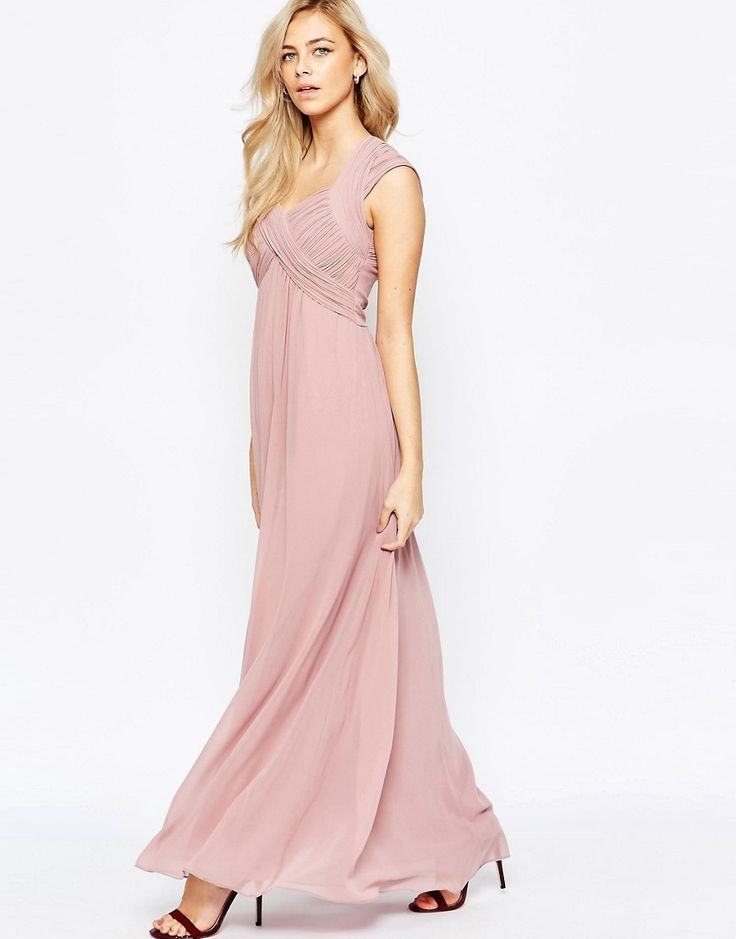 Image 1 of Little Mistress Crossover Empire Maxi Dress