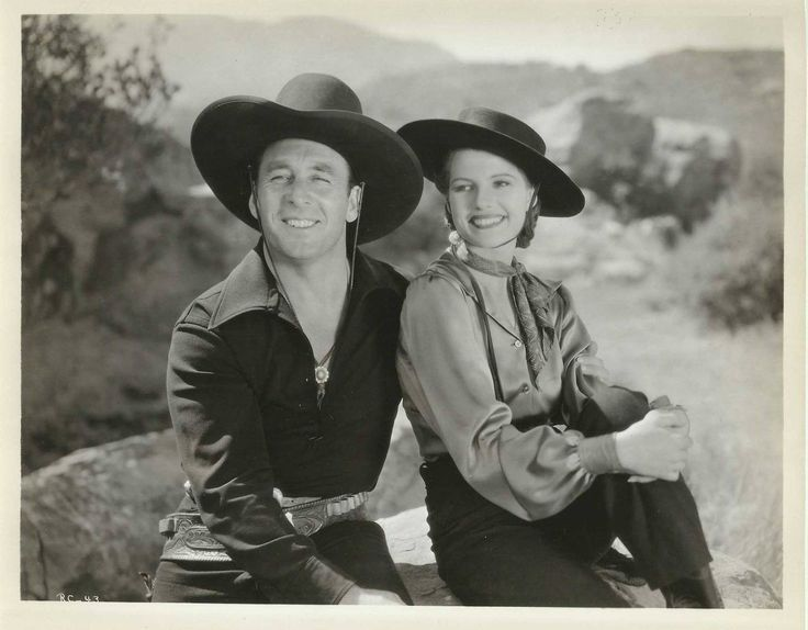 "George O'Brien and Rita Hayworth in ""The Renegade Ranger"" (1938)"
