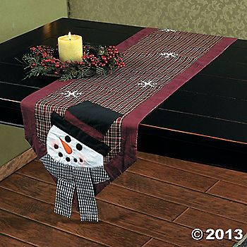 Snowman Table Runner. For sale, but could be figured out. Super cute!