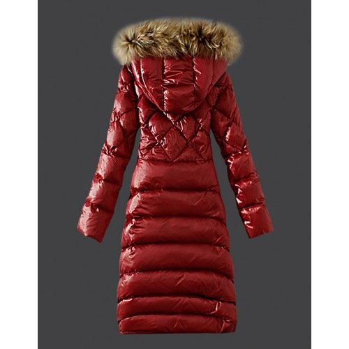 Moncler Coat 2016 Moncler Hooded Windproof Red