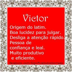 Significado do nome Victor   Significado dos Nomes