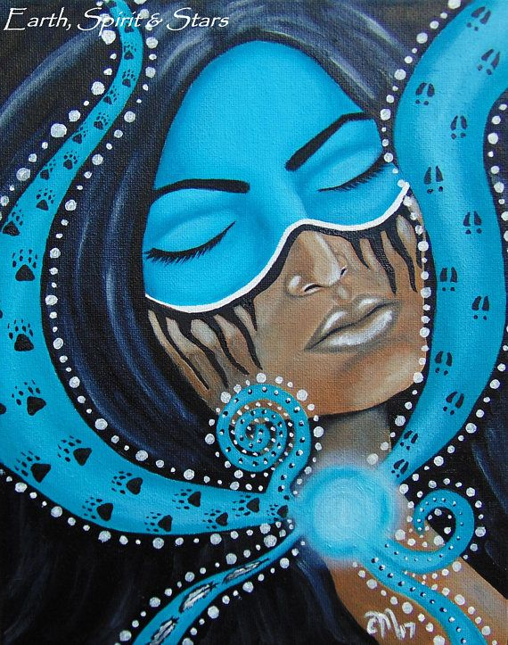 Channeling Oil on Canvas Original Painting by Christina
