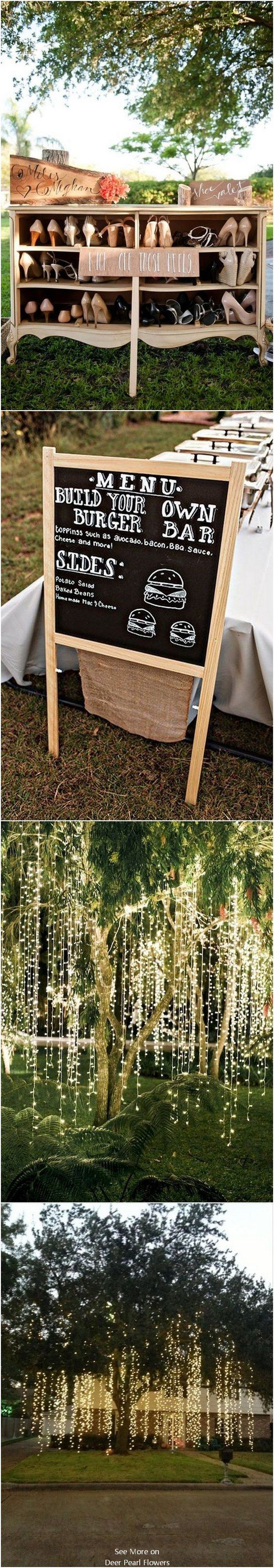 Intimate Backyard Outdoor Wedding Decor Ideas #backyardwedding #outdoorwedding #countrywedding #weddingdecor  ❤️http://www.deerpearlflowers.com/intimate-backyard-outdoor-wedding-ideas/