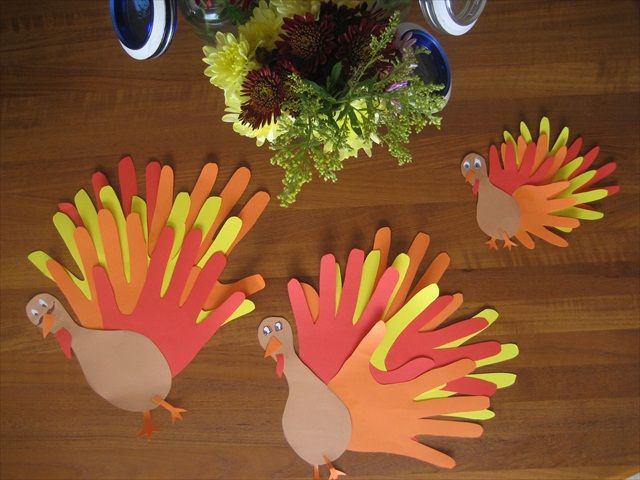 Hand Craft Ideas For Kids Part - 42: Turkey Hands Crafts For The Kids - Write Something Theyu0027re Grateful For On  Each