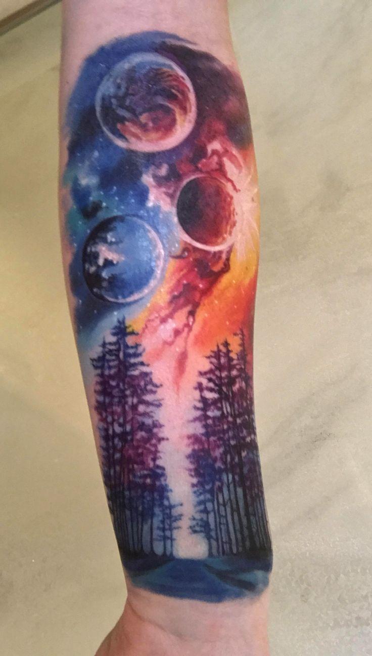 besten 25 planet tattoo ideen auf pinterest tattoo solar