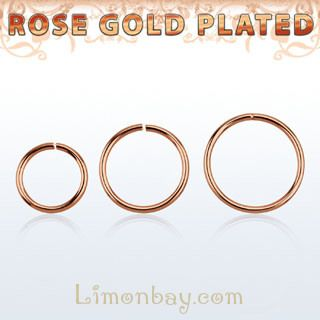 Rose gold plated ring Aro para nariz o labio en Oro Rosa