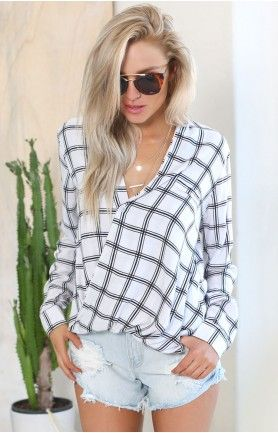 Fall For You Blouse Plaid