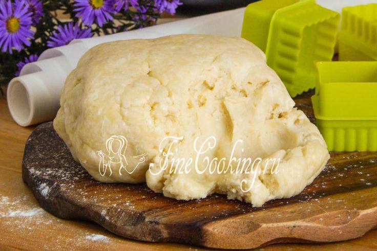 Песочное тесто с творогом - рецепт с фото
